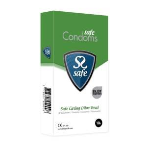 Safe Caring Aloe Vera Condoms 10 pack