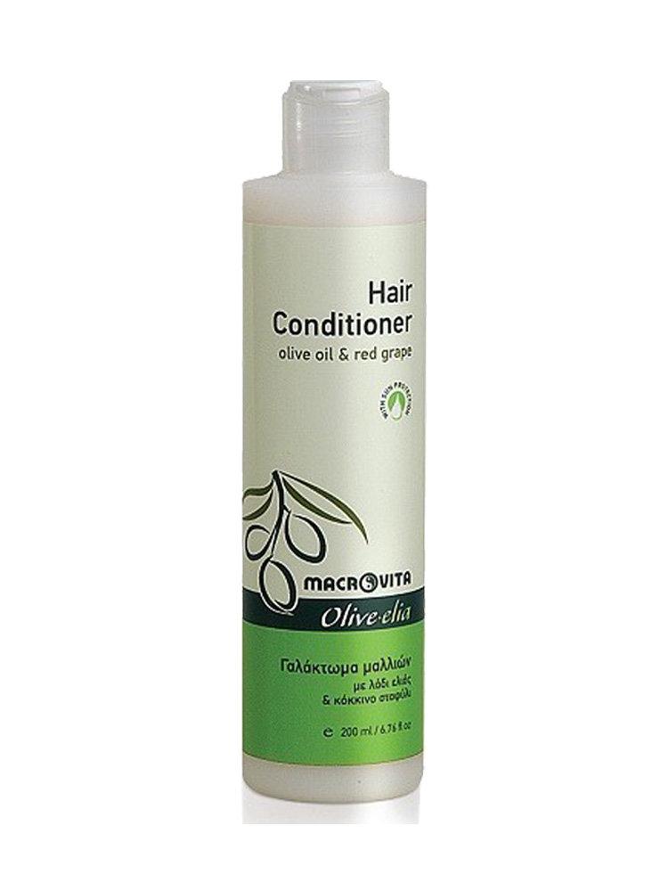 Hair Conditioner με ελαιόλαδο και κόκκινο σταφύλι Macrovita