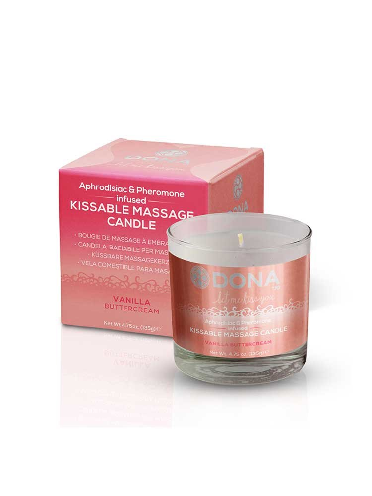 Vanilla Buttecream Kissable Massage Candle 135gr by Dona