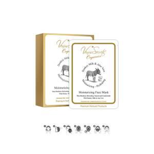 Ενυδατική Μάσκα Προσώπου με Γάλα Γαϊδούρας & Αλόη by Venus Secrets Organics 5 x 30ml