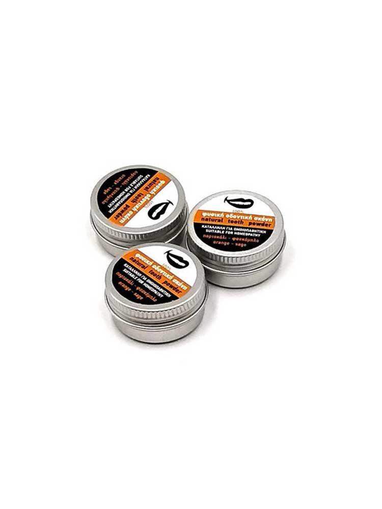 Οδοντική Σκόνη Πορτοκάλι & Φασκόμηλο 10gr  by Sparoza