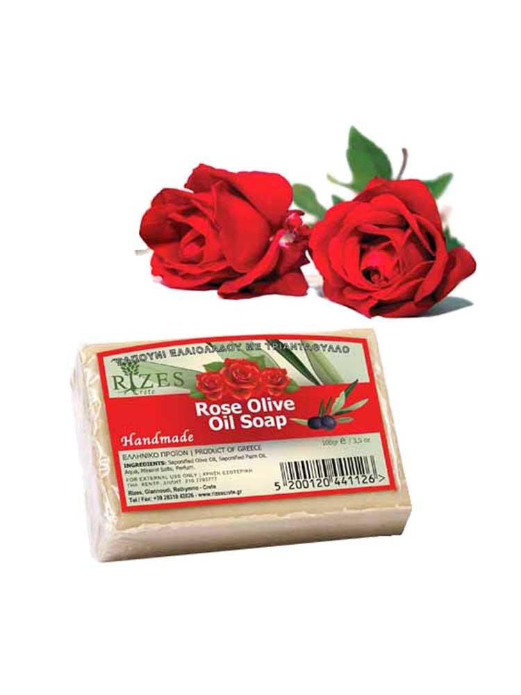 Τριαντάφυλλο Σαπούνι Ελαιολάδου απο Rizes Crete