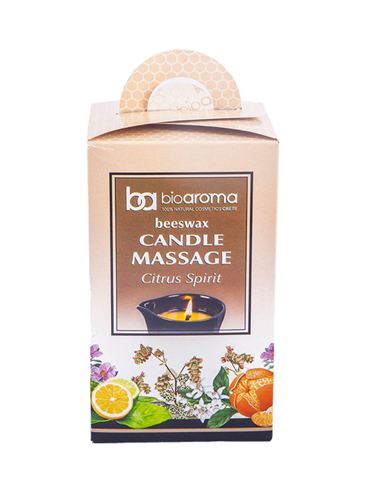 Beeswax Candle massage Citrus Spirit by Bioaroma