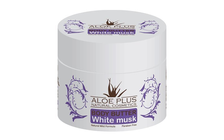 Body butter με Αλόη και άρωμα White Musk Aloe Plus