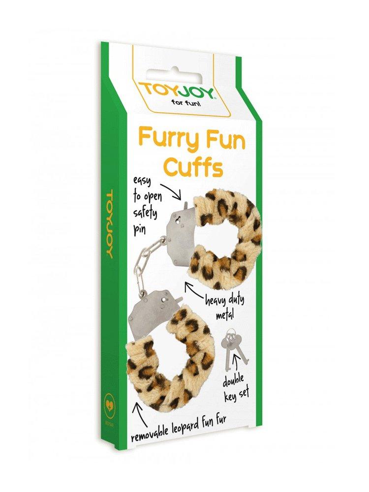 Leopard Furry Fun Cuffs by ToyJoy