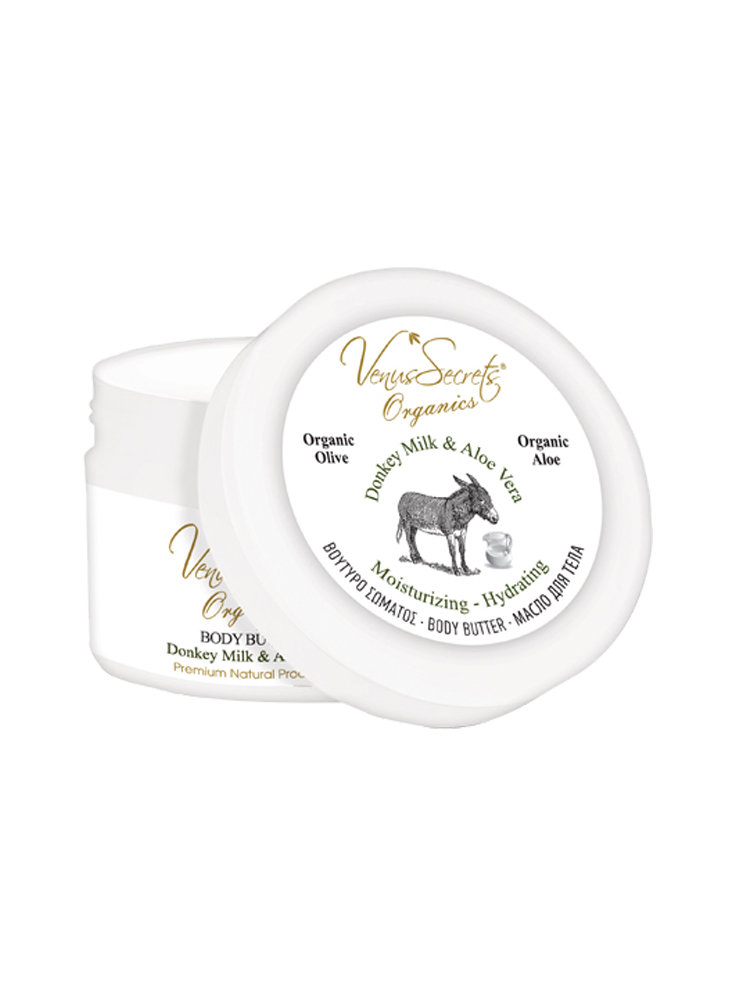 Body Butter with Donkey Milk & Aloe Vera by Venus Secrets Organics