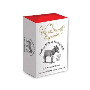 Σαπούνι με γάλα γαϊδάρας και ρόδι από την Venus Secrets Organics