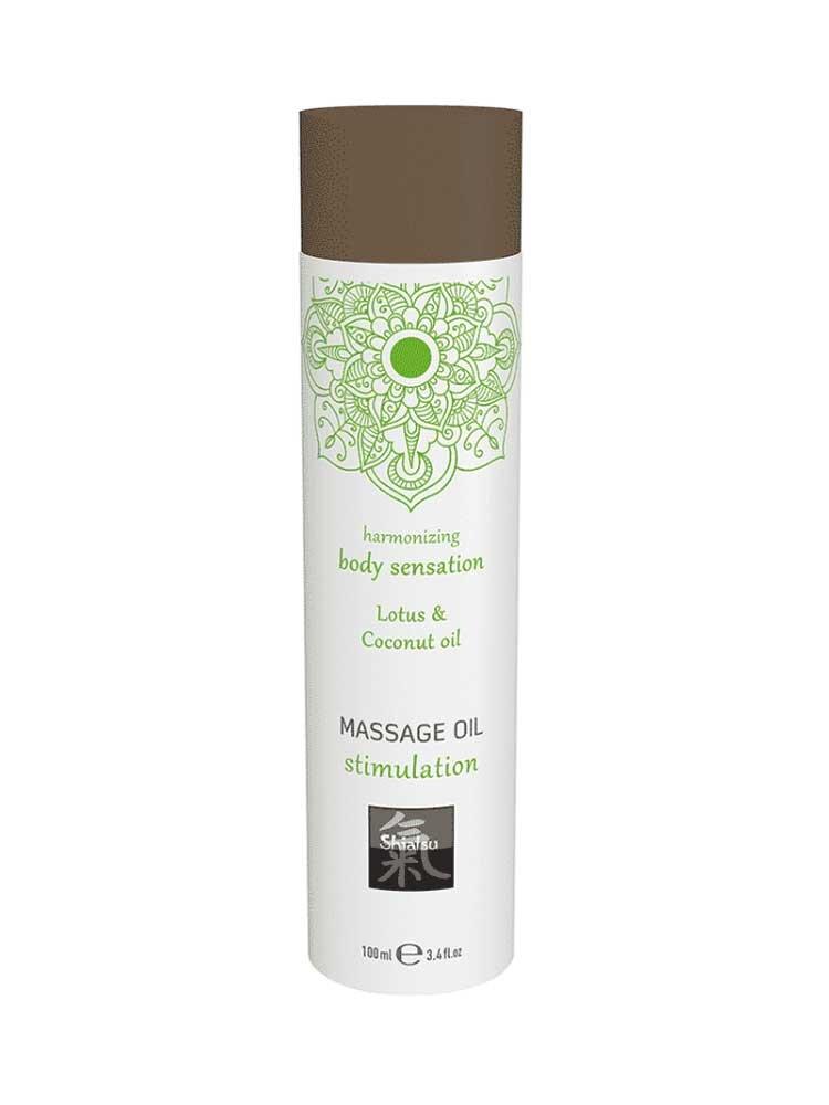 Stimulation - Lotus & Coconut Massage Oil 100ml by Shiatsu