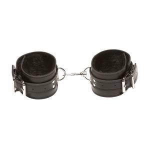 XPlay Black Fur Ankle Cuffs