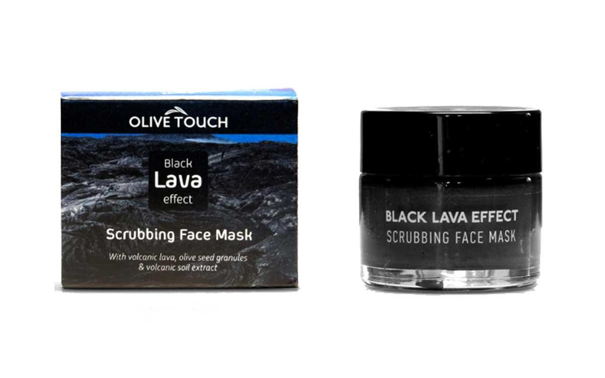 Black Lava Effect Απολεπιστική και Eνυδατική Μάσκα Προσώπου 50ml Olive Touch