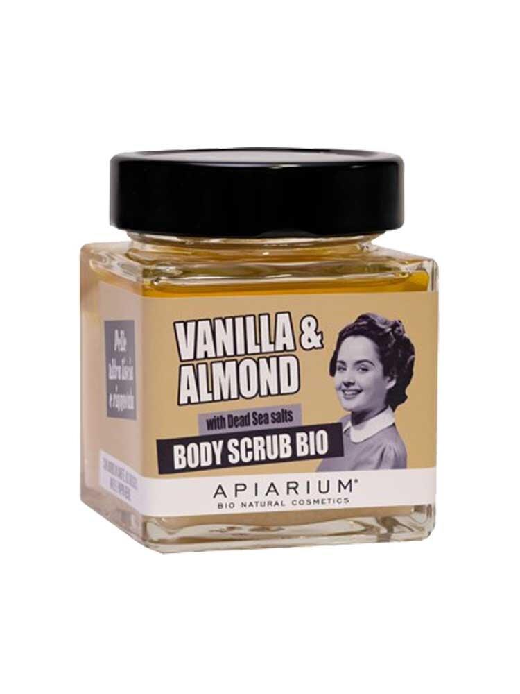 Βιολογικό peeling σώματος Vanilla & Almond 410gr by Apiarium