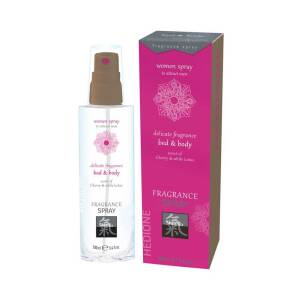Bed & Body Pheromone Fragrance For Women Cherry & White Lotus 100ml by Shiatsu