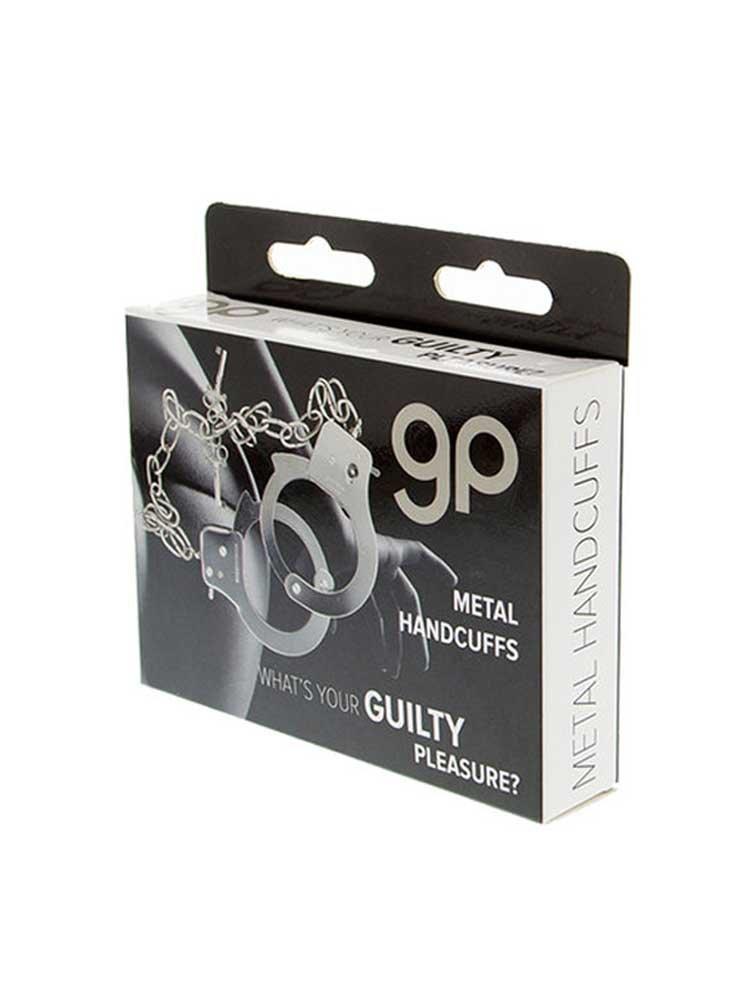 Metal Handcuffs Long Chain by Guilty Pleasure