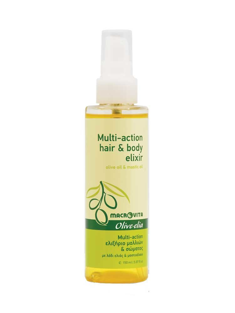 Multi-action Ελιξίριο Μαλλιών και Σώματος με λάδι Ελιάς & Μαστιχέλαιο Macrovita