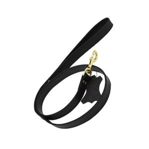 Bound Noir Nubuck Leather Leash