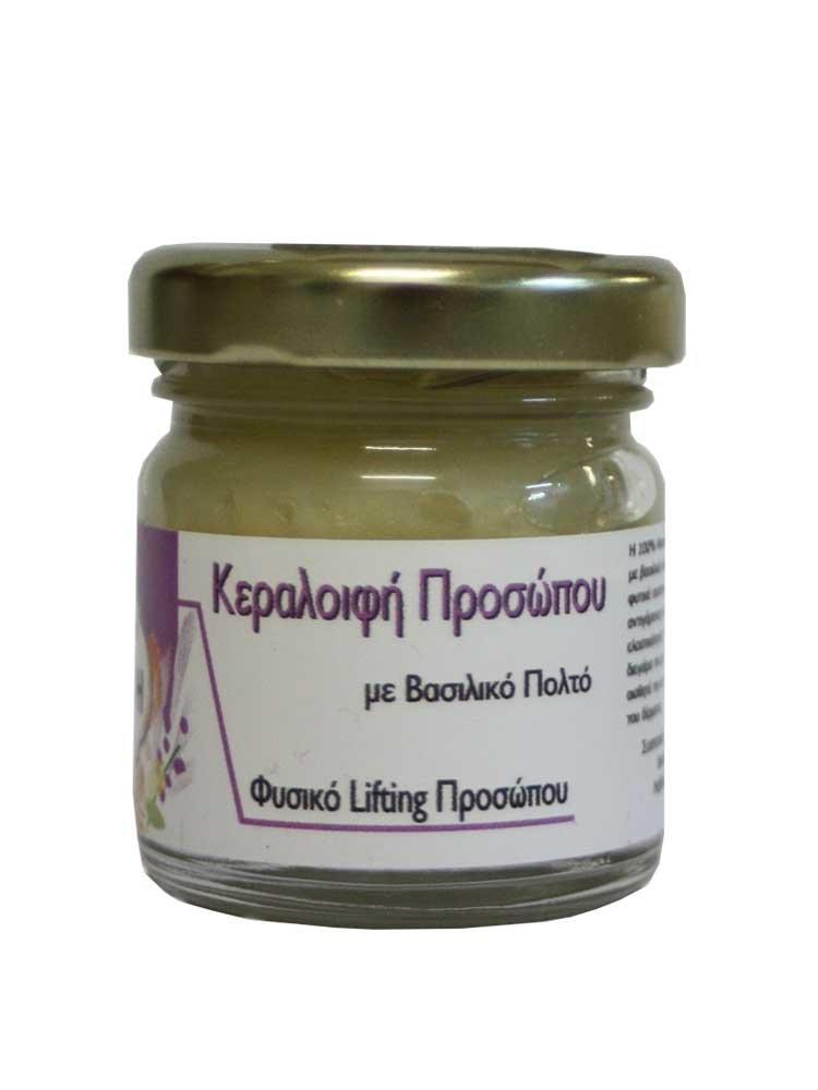 Αντιγηραντική Κεραλοιφή Προσώπου με Βασιλικό πολτό Disoline Elixirio