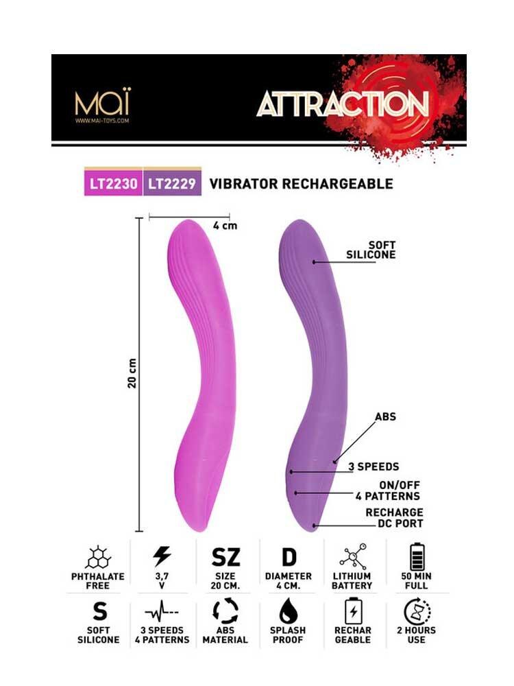Attraction G Spot Rechargable Vibrator No77 20cm by Mai Toys