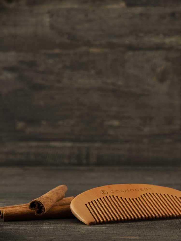 Χτένα από ξύλο αχλαδιάς για γένια και μαλλιά Cosmogent