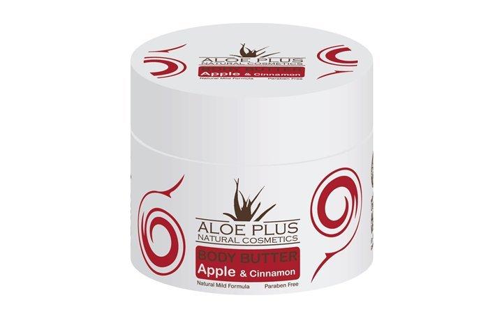 Body butter με Αλόη Μήλο & Κανέλλα Aloe Plus