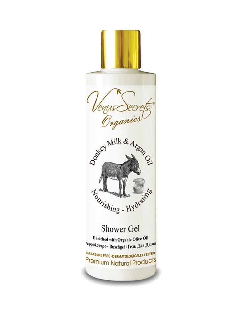 Shower Gel with Donkey Milk and Argan Oil by Venus Secrets Organics