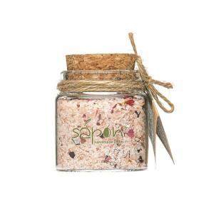 Άλατα μπάνιου Epsom & Himalayan με άρωμα τριαντάφυλλο 50ml Sapon Skin Care