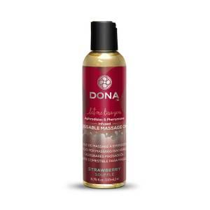 Strawberry Souffle Kissable Massage Oil 110ml by Dona