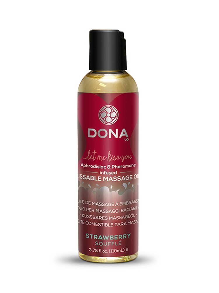 Strawberry Souffle Kissable Massage Oil 110ml by Dona