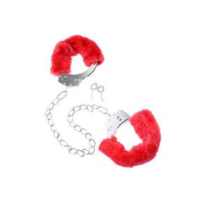 Furry Leg Cuffs Red by Pipedream