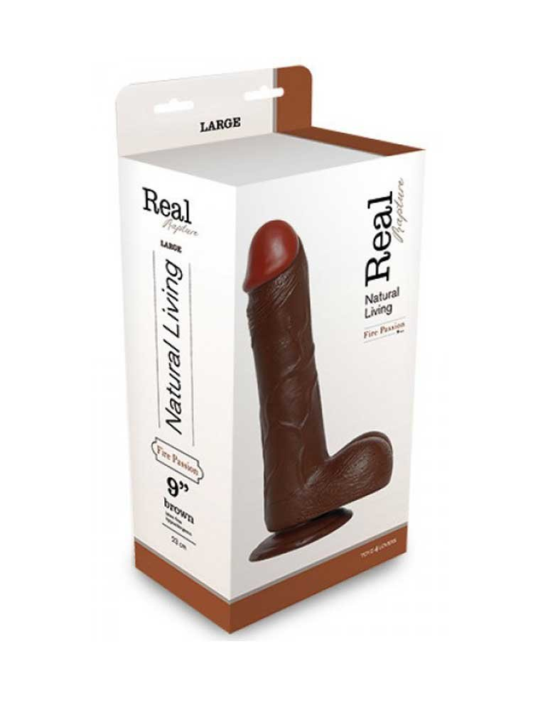 Dildo Realistic Rapture Brown 23.00cm