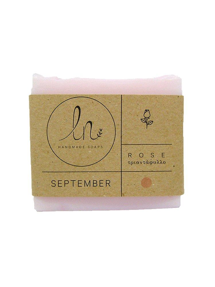 Σεπτέμβριος - Σαπούνι με Τριαντάφυλλο 100gr από LN Handmade Soaps