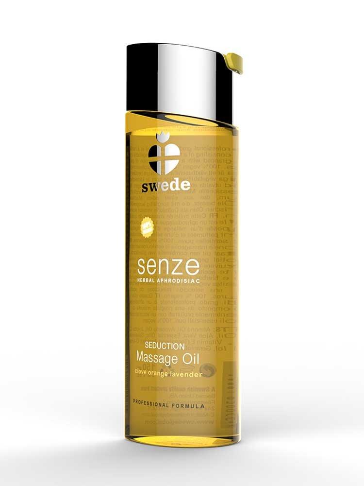 Senze Herbal Aphrodisiac Seduction Massage Oil 75ml Clove/Orange/Lavender by Swede