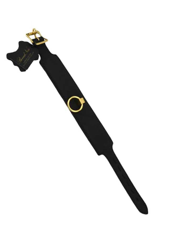 Bound Noir Nubuck Leather O-Ring Choker