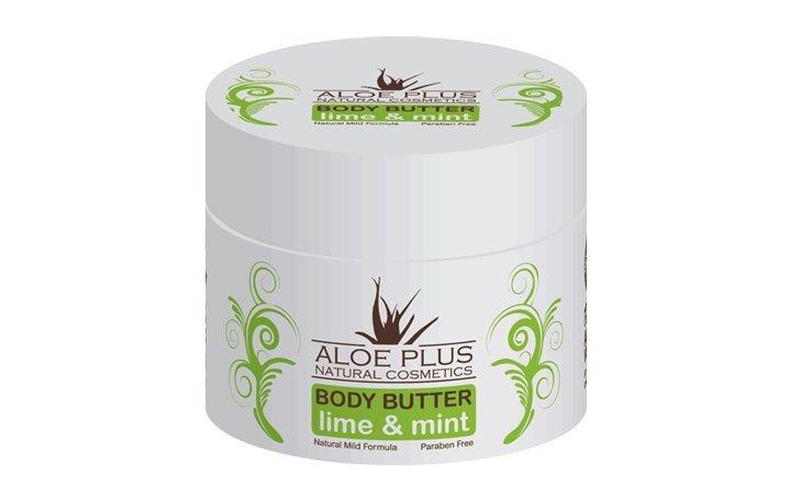 Body butter με Αλόη, Μέντα & Λάιμ Aloe Plus