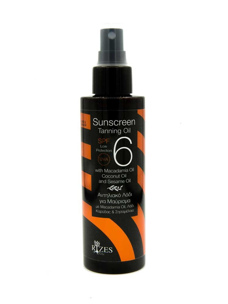 Sunscreen Tunning Oil SPF 6+ by Rizes Crete