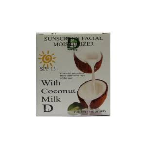 Αντηλιακή και ενυδατική κρέμα προσώπου με γάλα καρύδας από την DisoLine Elixirio