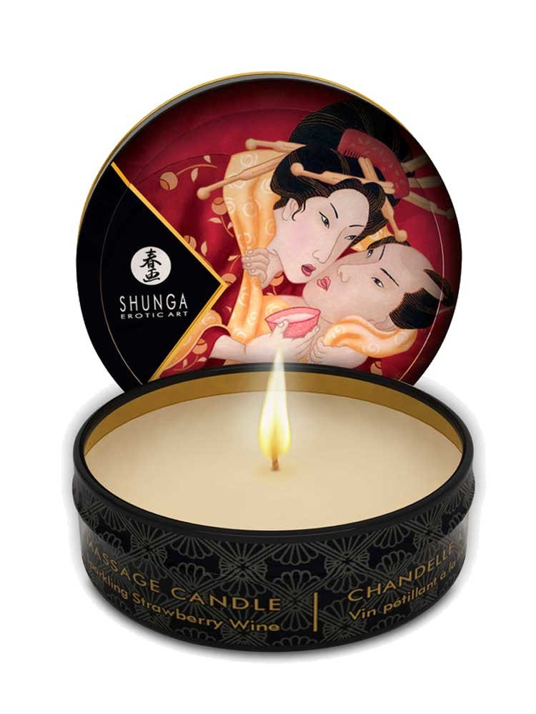 Massage Candle Romance 30ml with Strawberry Wine by Shunga