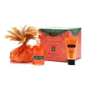 Treasure Trove Tangerine by Kamasutra (Honey Dust 200gr,  Oil of Love 100ml, Pleasure Balm 50ml)