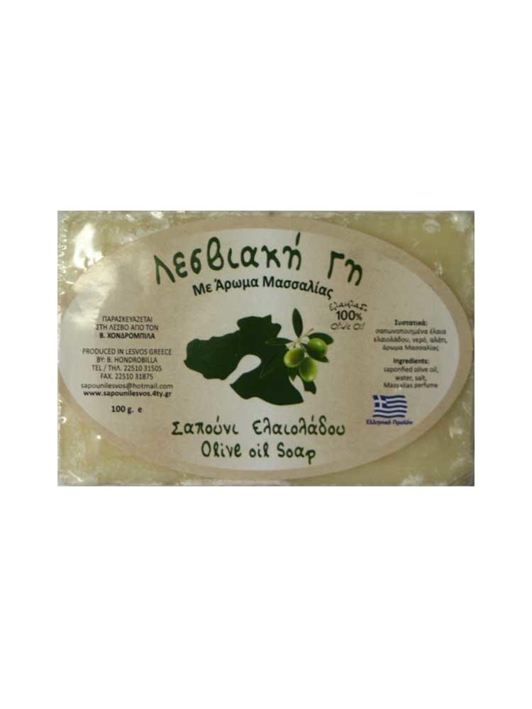 Σαπούνι ελαιολάδου με άρωμα Μασσαλίας Λεσβιακή Γη