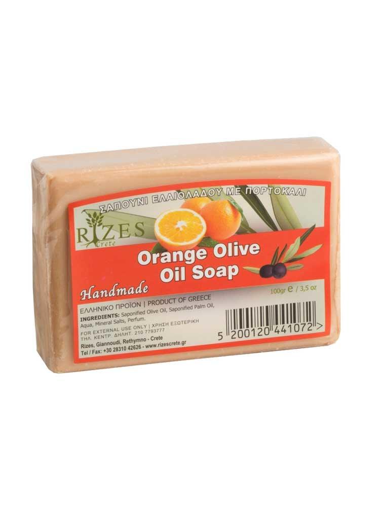 Πορτοκάλι Σαπούνι Ελαιολάδου 100gr από την Rizes Crete