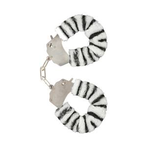 Zebra Furry Fun Cuffs by ToyJoy