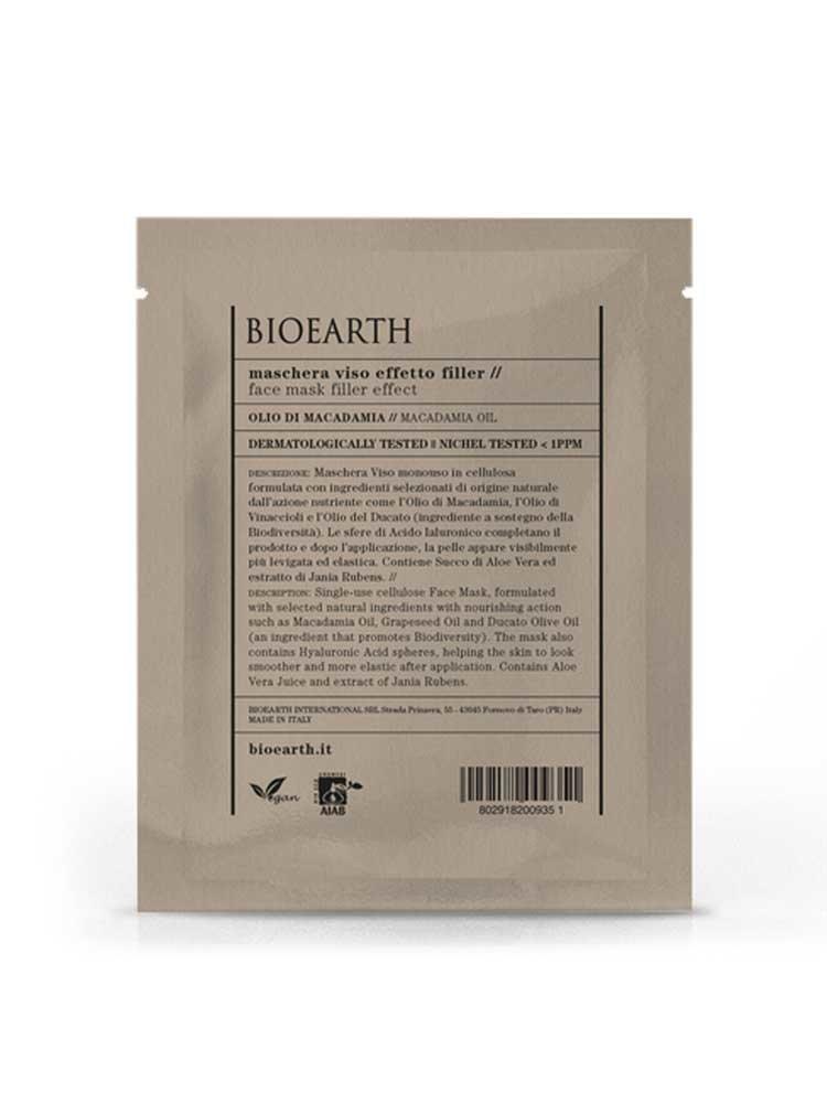 Γέμισμα Ρυτίδων Μάσκα Προσώπου με Μακαντάμια Bioearth 15ml