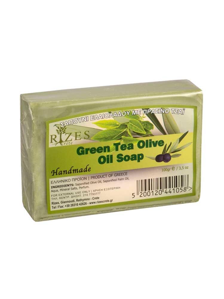 Πράσινο Τσάι Σαπούνι Ελαιολάδου 100gr από την Rizes Crete