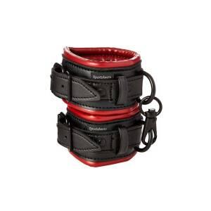 Saffron Black/Red Cuffs by Sportsheets