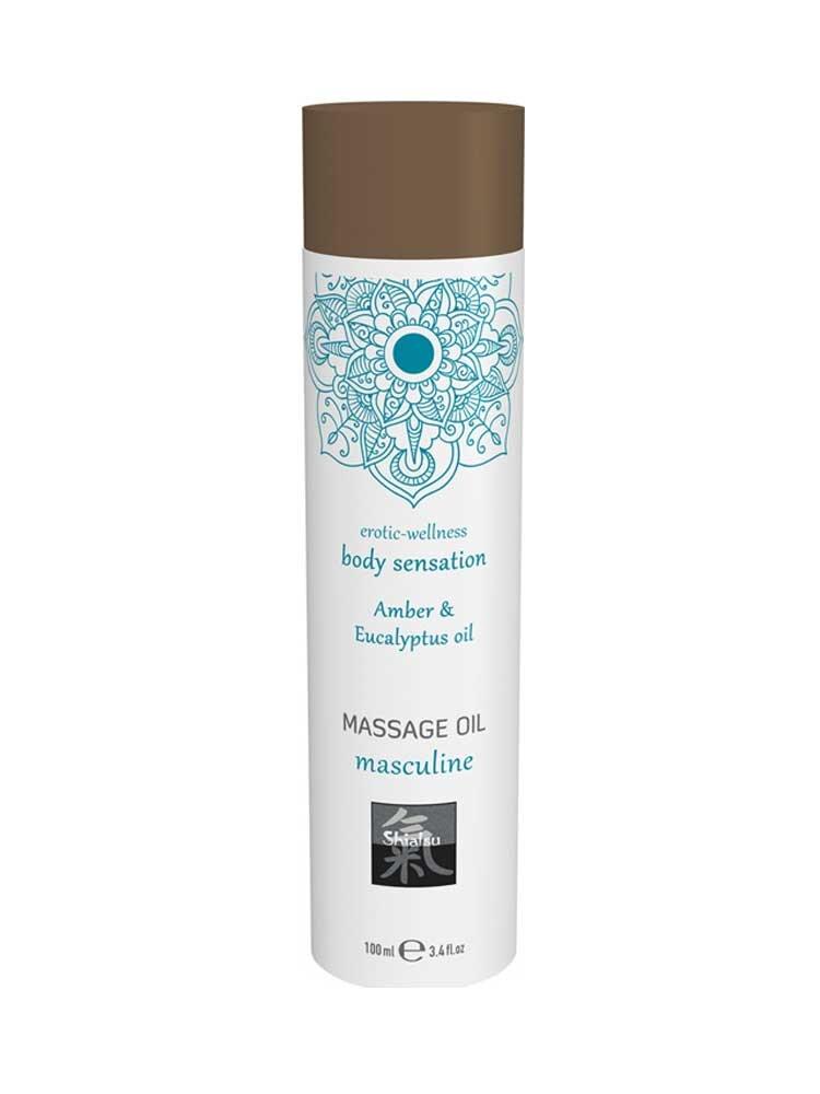 Masculine - Amber & Eucalyptus Massage Oil 100ml by Shiatsu