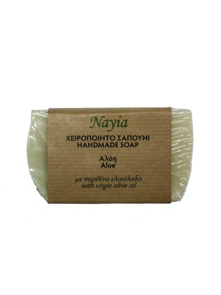 Χειροποίητο Σαπούνι ελαιολάδου με αλόη 80gr Nayia