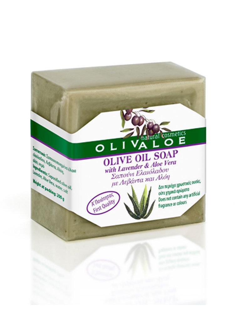 Σαπούνι με Αλόη και Λεβάντα OlivAloe