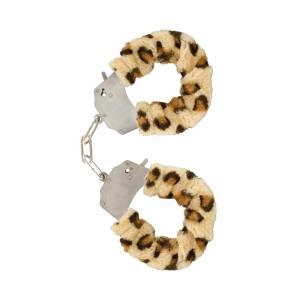Leopard Furry Fun Cuffs by ToyJoy
