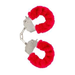 Furry Fun Cuffs Red by ToyJoy