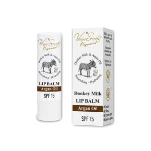 Lip Balm with Argan Oil, Donkey Milk Olive Oil and Aloe Vera by Venus Secrets Organics