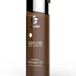 Senze Herbal Aphrodisiac Euphoria Massage Oil 75ml Vanilla/Sandalwood by Swede